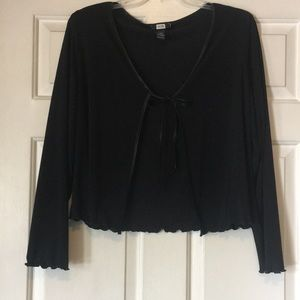 Black Poly/Spandex/Lace Cover